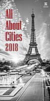 All About Cities Wall Calendar 2018 by Helma