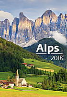 Alps Wall Calendar 2018 by Helma