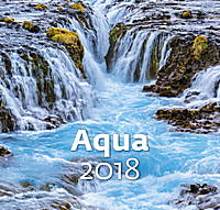 Aqua Wall Calendar 2018 by Helma