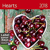 Hearts Wall Calendar 2018 by Helma