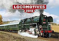 Locomotives Wall Calendar 2018 by Helma