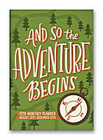 And So the Adventure Begins Monthly Pocket Planner 2018 by Orange Circle Studio