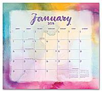 Aquarelle Magnetic Monthly Pad 2018 by Orange Circle Studio