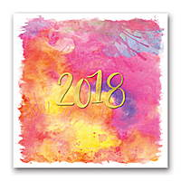 Aquarelle Wall Calendar 2018 by Orange Circle Studio
