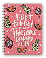 Be Awesome Today Extra Large Flexi Planner 2018 by Orange Circle Studio