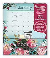 Bold Blossoms Pocket Plus Calendar 2018 by Orange Circle Studio