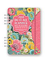 Bold Blossoms Do it All Planner 2018 by Orange Circle Studio