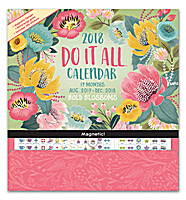 Bold Blossoms Do it All Wall Calendar 2018 by Orange Circle Studio