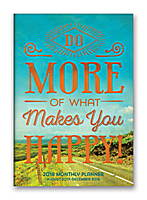 Do More of What Makes You Happy! Monthly Pocket Planner 2018 by Orange Circle Studio
