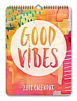 Good Vibes Mini Poster Calendar 2018 by Orange Circle Studio