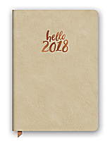 Hello Gold Leatheresque Medium Weekly Agenda 2018 by Orange Circle Studio