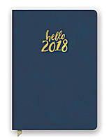 Hello Navy Leatheresque Medium Weekly Agenda 2018 by Orange Circle Studio