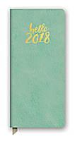 Hello Sea Green Leatheresque Jotter Agenda 2018 by Orange Circle Studio