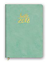 Hello Sea Green Leatheresque Medium Weekly Agenda 2018 by Orange Circle Studio