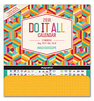 Kaleidoscope Do it All Wall Calendar 2018 by Orange Circle Studio