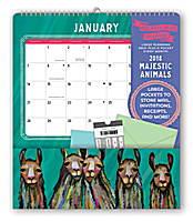 Majestic Animals Pocket Plus Calendar 2018 by Orange Circle Studio