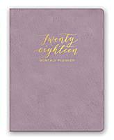 Practically Purple Leatheresque Monthly Planner 2018 by Orange Circle Studio