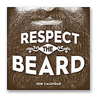 Respect the Beard Wall Calendar 2018 by Orange Circle Studio
