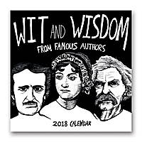 Wit and Wisdom from Famous Authors Wall Calendar 2018 by Orange Circle Studio