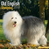 Old English Sheepdog Wall Calendar 2018 by Avonside