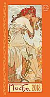 Alphonse Mucha Poster Calendar 2018 by Presco Group